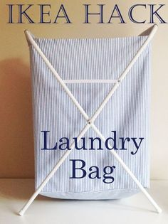 Materials: Jall Laundry Bag I de-constructed the plastic bag of the IKEA Jall Laundry Bag and used it as a pattern to cut and sew an fabric one. So easy! Ikea Laundry Basket, Laundry Cart, Laundry Sorter, Laundry Hacks, Laundry Hamper, Laundry Rooms, Ikea Hacks, Utility Room Storage, Bag Storage
