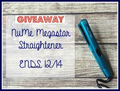 Housewife on a Mission: NuMe Megastar Straightener Giveaway
