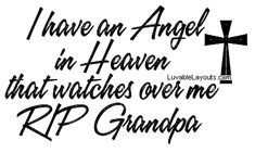 I Miss You Grandpa Quotes | All Graphics » GRANDPA IS MY ANGEL