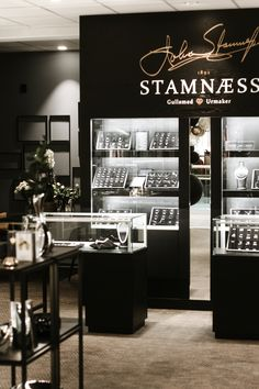 Shop design. Jewelry shop in Ålesund Norway Scandinavien design made by Møre Innredning Shop, Design, Store