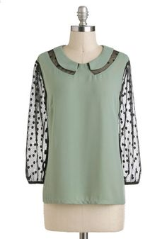 Sage Manager Top, #ModCloth