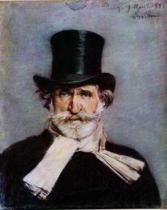 Boldini's famous portrait of the composer Giuseppe Verdi, Paris, 1886.