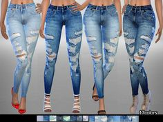 Sims 4 CC's - The Best: Jeans by Pinkzombiecupcake