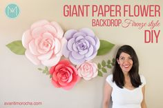 It was almost a year ago that I designed my first giant paper flower backdrop and It took me a while to figure out how to make them.  My inspiration came from Pinterest, boutique shops, wedding magazines etc. At that time there weren't many tutorials on how to make giant paper flowers so I decided