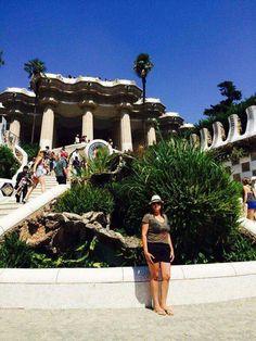 Barcelona - Espanha  2014 Park Guell Uma das obras mais conhecidas e belas do arquiteto modernista Antoni Gaudí