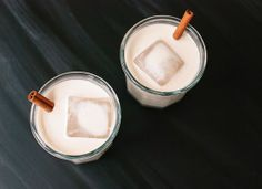 Homemade Horchata by Rick Bayless. The longer you soak the almonds, the thicker the mixture. Wait to add the sweetener until the end, then add to taste. Alcoholic variations: Add a splash of amaretto (almond liqueur) & spiced rum over ice.