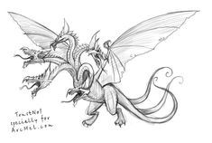 How to draw a dragon step 5