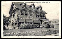 Front Royal Virginia Shenandoah national Park Ay view inn postcard