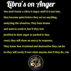 I've been blaming my Libra thing on saying I have anger issues 😤😩.(still slightly true tho) 🤦🏻♀️ Libra Scorpio Cusp, Libra Quotes Zodiac, Libra Sign, Libra Traits, Libra Horoscope, Zodiac Signs, Capricorn Facts, Astrology Signs, Aquarius