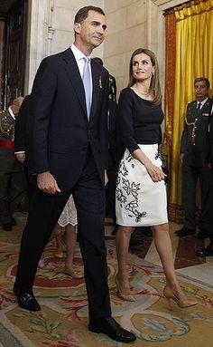 Принц Фелипе и принцесса Летиция
