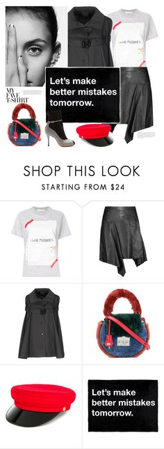 """""""mistakes."""" by gabrielleleroy ❤ liked on Polyvore featuring Golden Goose, Isabel Marant, John Richmond, SALAR, Manokhi, Charlotte Olympia and MyFaveTshirt"""