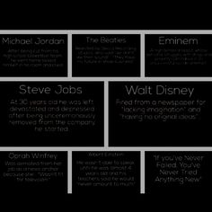 Famous failures, including The Beatles