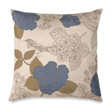 """Tula Cream 20"""" Square Toss Pillow - Bed Bath & Beyond"""
