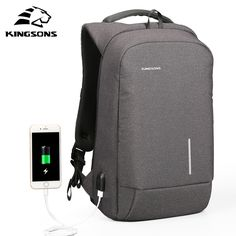 Kingsons USB Charge Men Backpack 15.6'' Laptop Backpack Large Capacity Casual Waterproof Bag women backpack Phone Suction Holder    // //  Price: $US $39.76 & FREE Shipping // //     Buy Now >>>https://www.mrtodaydeal.com/products/kingsons-usb-charge-men-backpack-15-6-laptop-backpack-large-capacity-casual-waterproof-bag-women-backpack-phone-suction-holder/    #Mr_Today_Deal