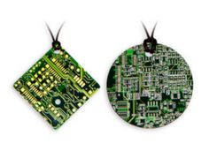 How to make eco friendly jewelry using discarded PCB. can be made easily out of the damaged circuit boards. I