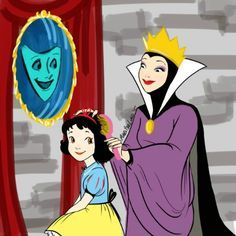 Here's what Disney princesses would look like if Disney villains were their moms. This is heartbreakingly cute! <3