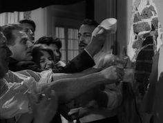 Luis Buñuel - El Ángel Exterminador (The Exterminating Angel) l(1962). A slow, strange but hypnotic film about a group at a dinner party that cannot leave the room they are in. For days, maybe it was even longer. They just can't...no reason. It's weird, but it's pretty original.