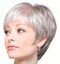 Pretty grey pixie cut; love this cut but the back needs to be shorter