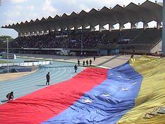La bandera en Maracaibo, para un amistoso entre Venezuela y Sudafrica....