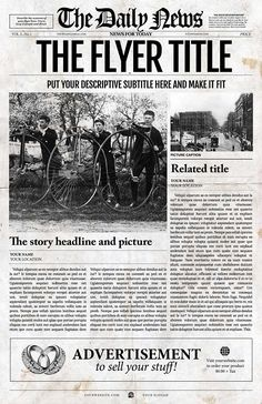 Old Newspaper Template  Psd Indesign And Ai Format  Dplex
