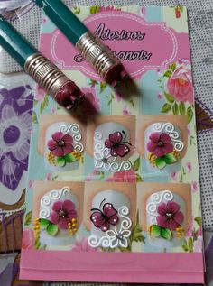 Manicure Y Pedicure, Nail Stickers, Short Nails, Christmas Nails, Nail Designs, Nail Art, Pattern, How To Make, Flower Nails