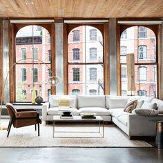 Floor-to ceiling windows, modern, living room, spring 2018