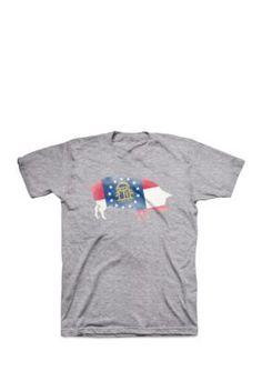 Crown & Ivy™ Men's Georgia State Pig Short Sleeve Tee - Heather Grey - 3Xlt