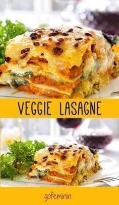 Lecker! Rezept für vegetarische Lasagne mit viel Gemüse!
