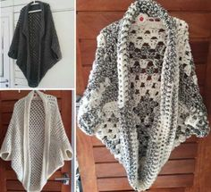 Crochet Poncho Crochet Cocoon Granny Shrug Free Pattern - If you are on the hunt for a Crochet Cowl, you will love the great ideas we have hand picked for you. Check them all out now and Pin your favorites. Poncho Au Crochet, Crochet Cocoon, Crochet Patron, Crochet Diy, Crochet Poncho Patterns, Crochet Jacket, Crochet Woman, Crochet Scarves, Crochet Clothes