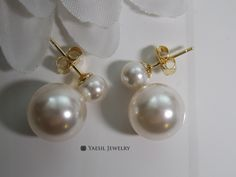 Your place to buy and sell all things handmade Double Pearl Earrings, Wedding Earrings, Snowman, Pearls, Sterling Silver, Trending Outfits, Unique Jewelry, Handmade Gifts, Vintage