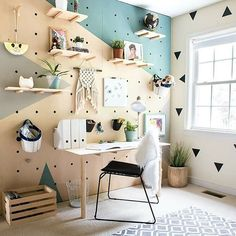 Build a pegboard wall. Instantly transform your home office with this DIY organizational and decorative wall! Build a pegboard wall. Instantly transform your home office with this DIY organizational and decorative wall! Peg Board Walls, Diy Peg Board, Peg Boards, Peg Board Shelves, Peg Wall, Wall Wood, Wall Art, Diy Casa, Home And Deco