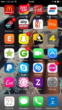Rainbow apps iphone home screen layout, phone organization, homescreen, ih,