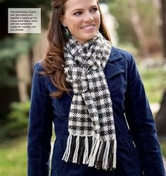 Chunky Woven Check Scarf, As Seen on Knitting Daily TV with Vickie Howell, Episode #1304 - Media - Knitting Daily