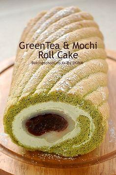 Green Tea and Mochi Roll Cake | Bakingschool.co.kr