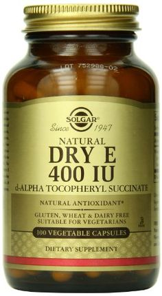 Solgar, Dry Vitamin E 400 IU, 100 Vegetable Capsules (d-Alpha Tocopheryl Succinate) *** Read more reviews of the product by visiting the link on the image.