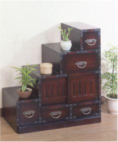 Rakuten: Deep-discount! Folk handicraft furniture ★ stairs chest / Japanese style chest / folk handicraft chest, antique-like finish Japanese style furniture- Shopping Japanese products from Japan