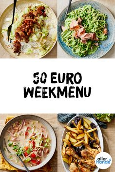 Weekly menu recipes budget - What are we eating today - Allerhande - Earn Money Cooking On A Budget, Budget Meals, I Love Food, Good Food, Weekly Menu, Everyday Food, Food Menu, Lunches And Dinners, Pasta