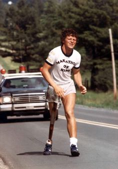In 1980, Terrance Stanley Fox started his Marathon of Hope by dipping his artificial leg into the Atlantic Ocean in St. John's, Newfoundland. His journey came to an end just outside Thunder Bay, Ontario -- he ran an average 42km per day through six provinces.