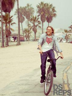 heart -- charlie on a bike