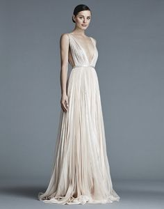 Seriously plunging neckline on this J. Mendel gown
