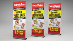 supa-value-banner Roller Banners, Promotion, Marketing