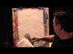 Faux painting techniques for walls, Mediterranean plaster, textured finish with glaze -   Ronald Layman .   YouTube https://www.youtube.com/watch?v=3G7Q1aO0-Mg