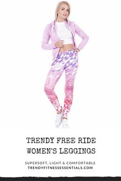 Dress to impress and turn your fitness passion into fashion! Unique print pattern super soft, light and comfortable Free Ride Fashion Women's Leggings Ladies Leggings, Tops For Leggings, Printed Leggings, Women's Leggings, Tights, Workout Essentials, 3d Pattern, Soft Light, You Fitness