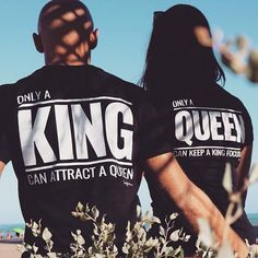 """Only a King can attract a Queen. Only a Queen can keep a King focused."" How do you like our new t-shirts? ❤️"