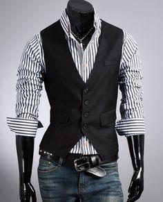 New Years 2014 - Fashion Classic Stylelish Gentleman Mens Vest Custom made 1011