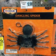 If your house has dangling spiders of its own, consider this Halloween Spider Dangling on Flip Front Hook as the ultimate solution. Halloween Spider, Flipping, Hooks, Insects, Dangles, Retail, Haken, Shops, Wall Hooks
