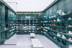 A Look Inside KITH's New Los Angeles Store: A sneakerhead's haven during All-Star weekend. Shop Interior Design, Retail Design, Shoe Store Design, Sneaker Stores, Retail Interior, Closet Designs, Retail Shop, Decoration, New Homes