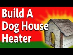 Build a doggone good dog house heater using simple tools and very little in the way of supplies. This dog house heater will warm the inside of the dog house . Dog Training Methods, Training Your Puppy, Training Dogs, Warm Dog House, Winter Dog House, Heated Dog House, Dog House Heater, Canis, Diy Heater