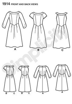 Want to make your own dress? Try Simplicity pattern #1913 from the Amazing Fit Collection.