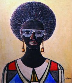 """Afro Jewess"" by Carl Abrahams (Jamaica)."